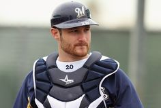 Jonathan Lucroy...catcher for the Milwaukee Brewers.  Having a STELLAR season so far!  (Getty Images)