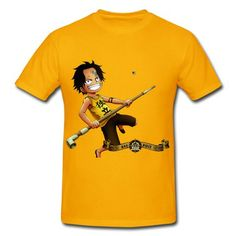 bb88c306 Enfant Portgas D Ace Of One Piece Short Sleeve T-shirts on Sale-Art