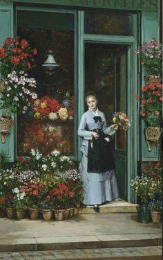La bouquetière (The Flower Seller), by Jules Émile Saintin, 1875