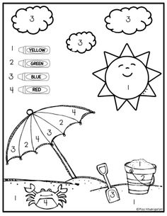 Summer Packet {On My Way to Kindergarten!} by Miss Kindergarten Love Preschool Learning, Kindergarten Worksheets, Learning Activities, Kids Learning, Preschool Crafts, Summer Preschool Activities, Early Learning, Beach Theme Preschool, Thanksgiving Activities