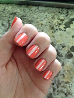 Stripe nail art by milly