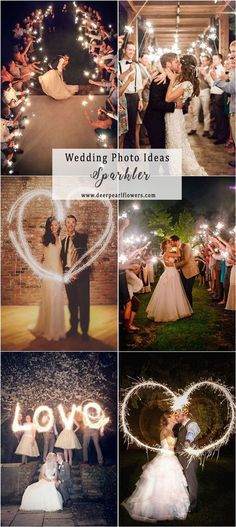 Night wedding photo ideas #weddingideas #weddingphotos #wedding / http://www.deerpearlflowers.com/wedding-photo-ideas-and-poses/ #WeddingPhotography