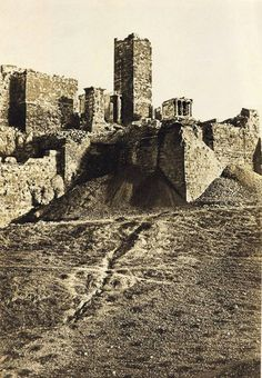 Acropolis, Athens, 1852 - photo by Eugene Piot
