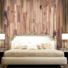 JAMMORY Wallpaper For Home Wall Covering Canvas Adhesive required Mural Wood…