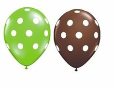 Amazon.com: (6) Green and Chocolate Polka Dot Balloons: Toys & Games