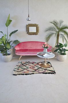 CIRCUS TENTS 4'9 x 2'7 Boucherouite Rug. Moroccan by pinkrugco