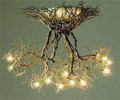 Help get more in tune with nature by installing the tree root chandelier in your home. The chandelier's unique design makes it seem as if a light bulb studded...
