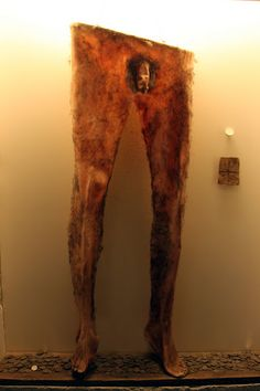 """""""Necropants""""  Thenecropants, as they're called, are at the center of a very strange legend that's part of an exhibit at Iceland's Holmavik Witchcraft and Sorcery Museum (a macabre little pit-stop where you can learn the stories of 17 people burned at the stake in the 17th century — for supposedly """"occult"""" practices like cursing someone withuncontrollable farting). The necropants were made from the skin of the bottom half of a dead guy — but that's not the weird part, if you can beli"""