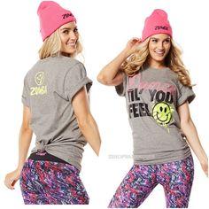 ZUMBA®  Dance Till You Feel Tee T Shirt Racerback Fr.Convention RARE S M L XL #ZUMBA #ShirtsTops