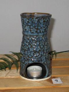 Essential Oil Burner / Diffusor / Lantern - Dark Denim on Etsy, £19.57