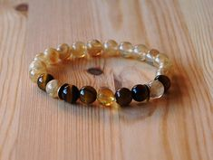 8 mm Quartz Tiger Eye & Citrine Yoga Malas Beads Meditation