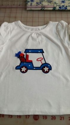 4th of July golfcart shirt for the girls who live in a golfcart community.