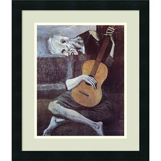 Pablo Picasso 'The Old Guitarist 1903' 17x20-inchFramed Art Print