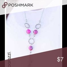 Pink necklace Cute necklace pink and silver in color. Bundle 5 jewelry items for $25. none Jewelry Necklaces