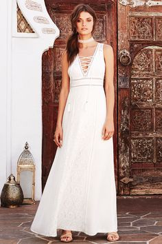 You'll be absolutely irresistible in the Beneath the Garden Arbor Ivory Lace Maxi Dress! Ivory lace overlay covers this open back maxi dress with lace trim. Sheer Maxi Skirt, White Lace Maxi Dress, White Maxi Skirts, Wedding Dress Shopping, Wedding Dresses, Vacation Dresses, Bridal Gowns, Wedding Ideas, Boho Wedding