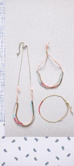 Ferris Bead Necklace and Bracelet www.oliverbonas.com