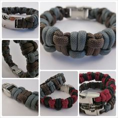 H Knot (fashion) Paracord Bracelet Designs, Bracelets Design, Paracord Knots, Paracord Projects, Bracelet Crafts, Paracord Bracelets, Jewelry Crafts, Paracord Ideas, Paracord Tutorial