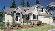 Eplans New American House Plan -  - 2737 Square Feet and 3 Bedrooms from Eplans - House Plan Code HWEPL12221