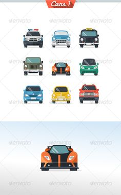 Car Icon Set 1 — Photoshop PSD #cartoon #speed • Available here → https://graphicriver.net/item/car-icon-set-1/5514448?ref=pxcr