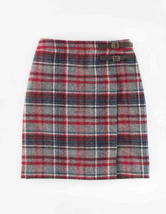 Biden British Tweed Kilt. Love red plaid wool skirts with tights for fall/winter. Need length just above the knee.