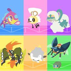 Sun and Moon Pokemon! Bruxish | Gnash Teeth Pokemon | Water/Psychic | Dazzling/Strong Jaw Cutiefly | Bee Fly Pokemon | Bug/Fairy | Honey Gather/Shield Dust Drampa | Placid Pokemon | Normal/Dragon |...