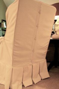 Chair slipcover detailing from nestegg ~~~