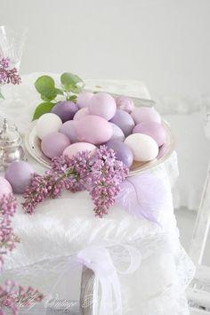 Purple Easter eggs...