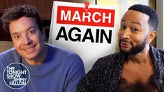 """""""March Again"""" ft. John Legend (Beauty and the Beast Parody)   The Tonight Show - YouTube Magnolia Blog, Tonight Show, John Legend, Jimmy Fallon, Beauty And The Beast, March, Magnolias, Youtube, Potpourri"""