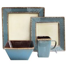 16 Piece Barcelona Dinnerware Set in Azul