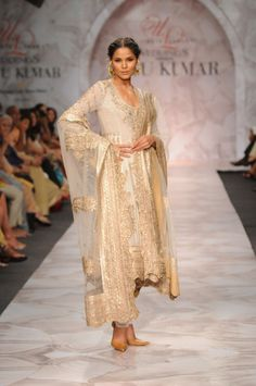 Ritu Kumar gold embroidered anarkali.