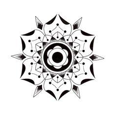 Geometric flowers.http://blakegordondesign.tumblr.com/