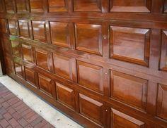 Metal Garage Doors, Garage Door Paint, Garage Door Makeover, Metal Garages, Garage Door Design, Wood Doors, Garage Door Colors, Garage Exterior, Faux Wood Garage Door