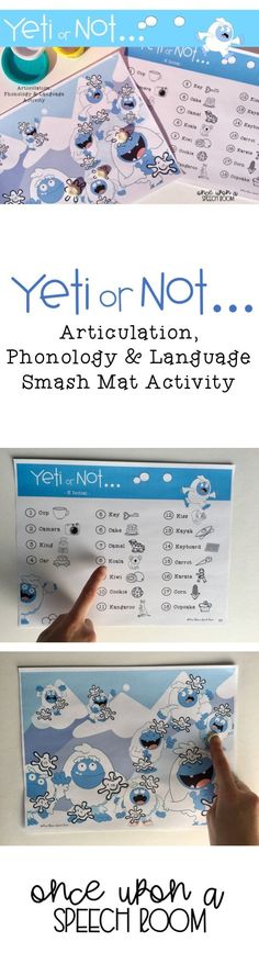 Yeti or not…. Articulation and language therapy is definitely going to get exciting with this fun activity! This yeti snowball … Playdough Activities, Articulation Activities, Language Activities, Articulation Therapy, Preschool Speech Therapy, Speech Language Therapy, Speech And Language, Speech Pathology