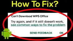 WPS Office on Android Error? Here are 4 Ways to Overcome it - Phcorner Word Alternative, Stop It, Best Android, Internet, Words, Free, Horse