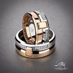 كد : 12487 -12484 حلقه ست طلاي 18عيار سفيد رزگلد  20 عدد نگين برليان سفيدپاك زنانه :  2/400/000t مردانه : 2/500/000t #Zomorodijewelry #Zomorodi #Jewelry #Jewellery #FineJewellery #HighJewellery #Ring #WeddingRing #زمردي #جواهر #جواهرات #برليان #حلقه