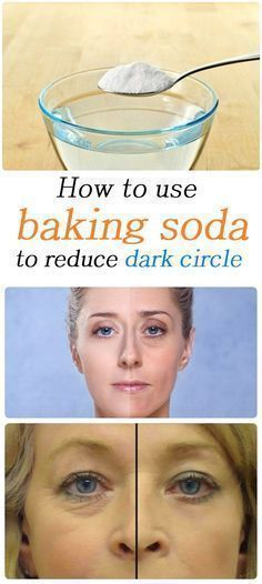 put a teaspoon of baking soda in a cup of hot water or chamomile tea and mix well. Moisten a cotton diskette mixed and put it under the eyes. Leave it to act for 10-15 minutes. Rinse your face with water and apply a moisturizer. You'll notice results immediately