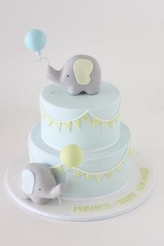 baby shower cake ideas elephant best cakes on fondant boy christening Idee Baby Shower, Torta Baby Shower, Baby Shower Cupcakes, Baby Boy Shower, Baby Party, Baby Shower Parties, Baby Shower Themes, Baby Shower Decorations, Baby Showers