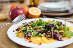 Persimmon, Blood Orange & Pomegranate Salad