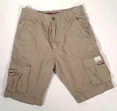 "Mens Size 31 Levi's Khaki Cargo Shorts, 11"" Inseam"