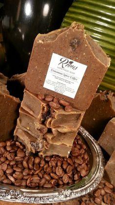 I love our cinnamon spice coffee natural handmade soap.