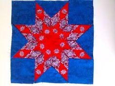 Ster van rode zakdoeken