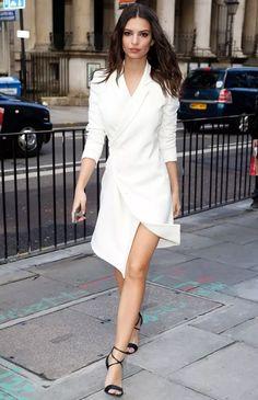 blazer branco como vestido!