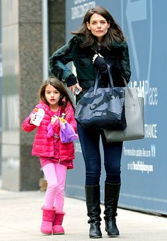 Katie Holmes and Suri Cruise headed to an NYC skating rink on Feb. 9, 2014.
