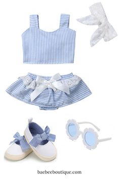 Stylish baby clothes, at affordable prices to keep your little ones cute from head-to-toe. Sock Shoes, Baby Shoes, Stylish Baby Clothes, Blue Lace, Summer Days, Blue Stripes, Boutique, Hot, Girls