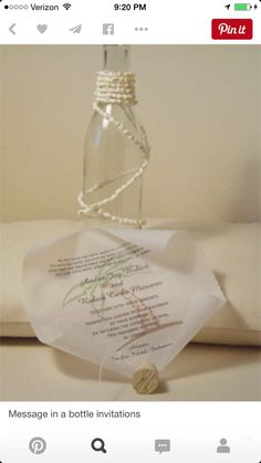 Rob and Ambers wedding invitation