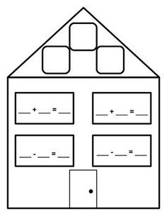 Here's a large size fact family form for practicing basic facts.