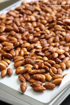 Sweet and Spicy Almonds- perfect to snack on or serve at holiday gatherings