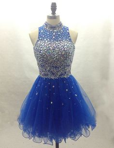 Royal blue, Homecoming dress, short prom Dress, charming Prom Dresses, Party dress for girls