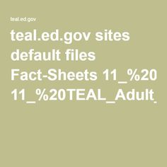 sites default files Fact Sheets TEAL Adult Learning Theory.