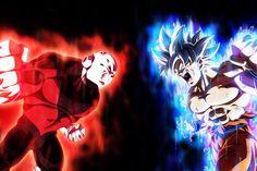 Dragon Ball Super Poster Goku Ultra Instinct VS Jiren x Goku Super, Super Saiyan, Action Wallpaper, Glitch Wallpaper, Dragon Ball Z, Goku Vs Jiren, Goku Ultra Instinct, Dragon Super, Sketchbooks